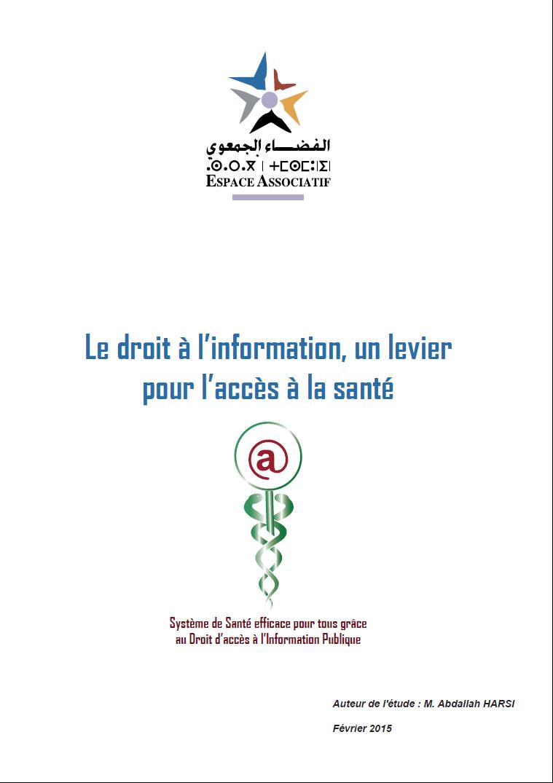 Système de santé efficace pour tous grâce au droit d'accès à l'information publique